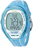 Timex Women's T5K590 Ironman Sleek 250-Lap TapScreen Turquoise/Gray Resin Strap Watch