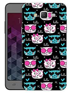 """Humor Gang Chic Cats Trendy Printed Designer Mobile Back Cover For """"Samsung Galaxy J5"""" (3D, Matte, Premium Quality Snap On Case)"""