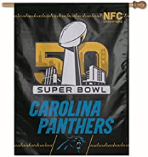 Carolina NFC Champs Super Bowl 50 Flag and Banner