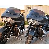 """Harley Davidson Road Glide Adjustable Baggershield 10.5""""-17.5"""""""