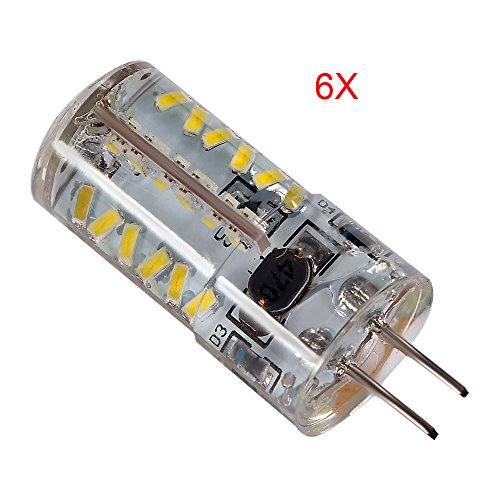 Ljy 6Pcs Pack G4 3014 Smd 57-Led 4.5W 220-250Lm Warm White Light Led Chandelier Crystal Bulb 360 Degrees Car Energy Saving Spot Lights Dc/Ac 12-24V
