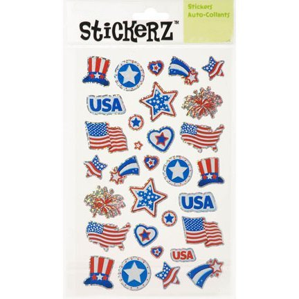 64 Patriotic Stickers