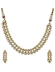 Ashapura Gold Plated Necklace With Dangle & Drop Earrings For Women - N0115
