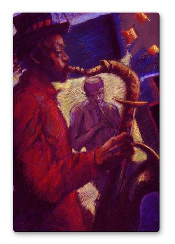 Jazz-Duet-Metall-Kunstdruck-Modernes-Abstrakt-Musik-Skulptur-USA-Made-Malerei