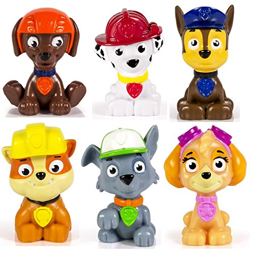Paw-Patrol-Mini-Figures-Set-of-6-Rocky-Zuma-Skye-Rubble-Marshall-Chase