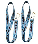 Totoro 2pc Lanyards Multi-purposes Holder - Totoro Lanyards - Blue