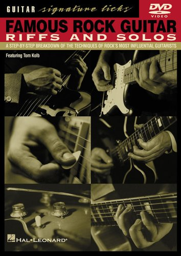 Famous Rock Guitar Riffs and Solos Signature Licks DVD
