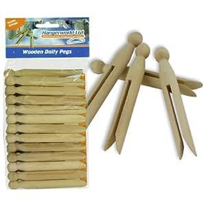 Hangerworld 72 mollette in legno per bucato ed for Hobbistica legno