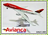 Boeing 747 Avianca Metal Plane Model 16cm