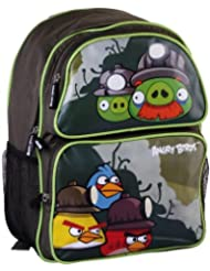 Angry Birds Medium School Bag In Army Green