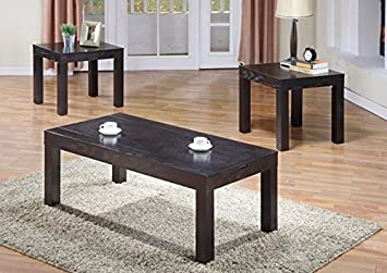 DARK WALNUT VENEER 3PCS TABLE SET WITH STORAGE (SIZE: 52L X 26W X 19H)