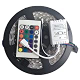 16.4FT 5M SMD 5050 Waterproof 300LEDs RGB Color Changing Flexible LED Strip Light (Multi-colored)