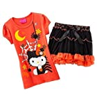 Hello Kitty Toddler Little Girls' Halloween Tee and Tiered Scooter Set (4T)