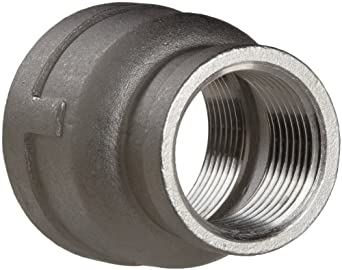 Stainless Steel 304 Cast Pipe Fitting, Reducing Coupling, Class 150, NPT Female