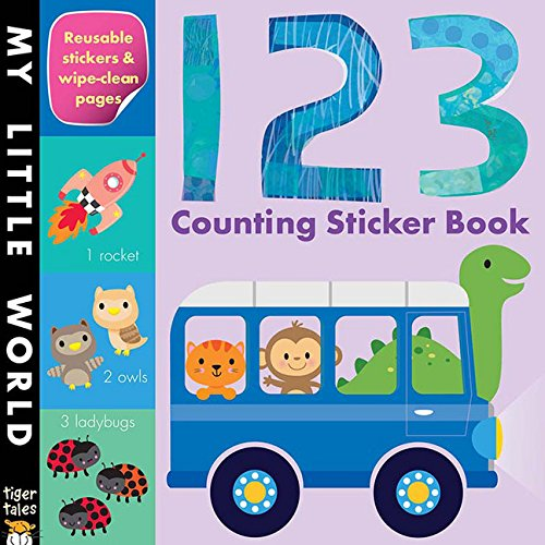 123 Counting Sticker Book (My Little World) (Preschool Color And Activity Book compare prices)