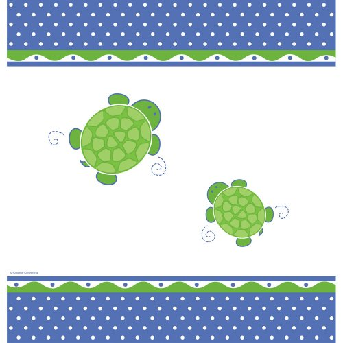 Creative Converting Mr. Turtle Plastic Table Cover, Rectangle 54 X 108""