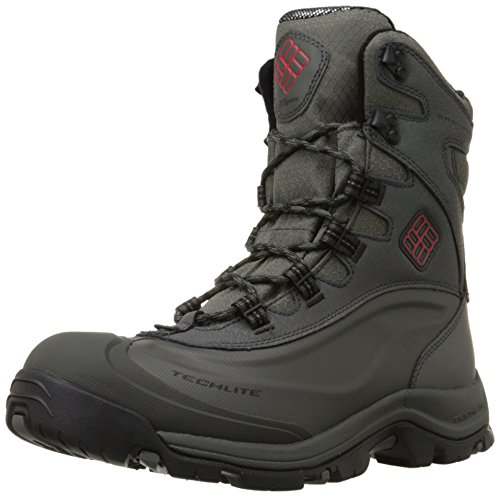 Columbia Men's Bugaboot Plus III Omni Cold Weather Boot, Charcoal/Bright Red, 7 D US