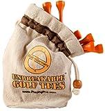 Unbreakable Golf Tees - 72mm (Orange, 25 tees in bag)