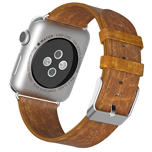 apple-watch-correajetech-42mm-cuero-genuino-correa-muneca-reemplazada-con-bloqueo-del-metal-para-tod