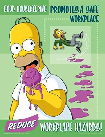 Simpsons Workplace Housekeeping Safety Poster - Good Housekeeping