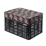 Basil Katharina Bicycle Crate Cover - Black, Large