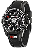 Sector Men's Quartz Watch with Black Dial Analogue Display and Black PU Strap R3271677001