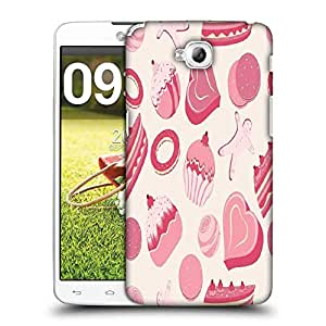 Snoogg Abstract Pink Cakes Designer Protective Phone Back Case Cover For LG G Pro Lite