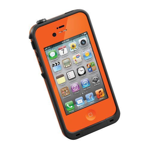 Lifeproof Case For Iphone 4/4S - Retail Packaging - Orange/Black