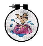 Dimensions Learn-A-Craft Perky Puppy Cntd 3x3 X-Stitch Kit