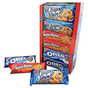 Variety Pack Cookies, Assorted, 1 3/4oz Packs, 12 Packs/Box, Sold as 1 Box