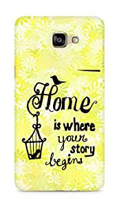 AMEZ home is where your story begins Back Cover For Samsung Galaxy A9
