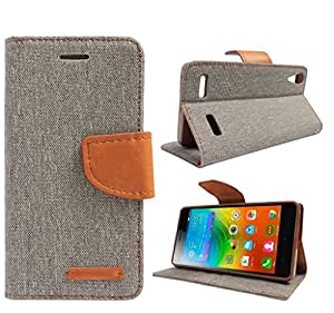 Online Street Fancy Diary Case For SONY Xperia C5- (Matte Grey)
