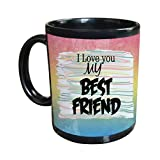 Gift For Friend & Friendship Day Gift Black Coffee Mug Design 9