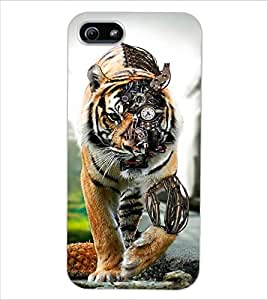 ColourCraft Creative Tiger Image Design Back Case Cover for APPLE IPHONE 5S