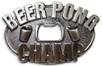 Beer Pong Champion Bottle Opener Belt Buckle