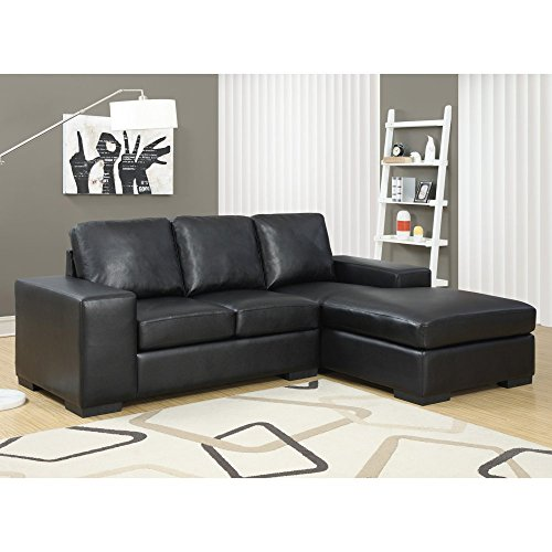 Check Today U0026 Read Reviews Before Buy. Monarch Specialties Black Bonded  Leather/Match Sofa Lounger, 37 Inch