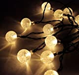Beleuchtung - CMYK� 30er LED Solar Globe Garten Lichterkette Au�en Warmwei� 6 Meter