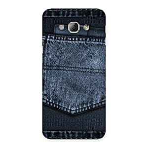 Premium Navy Jeans Pocket Back Case Cover for Galaxy A8