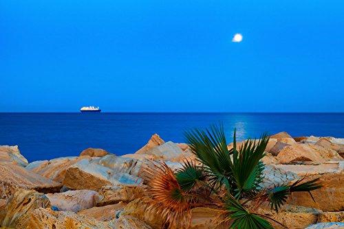 120505-50-el-barco-y-la-luna-y-paspartu-fotografia-hecha-a-mano-original-de-fine-art-por-p-matanski-