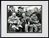 Winston Churchill, Franklin D. Roosevelt and Joseph Stalin at Yalta in 1945 (#6) Double Matted 8