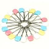 EQLEF® 10 piezas mixtas de colores grandes de la seguridad del bebé del pañal del panal botones prendedores