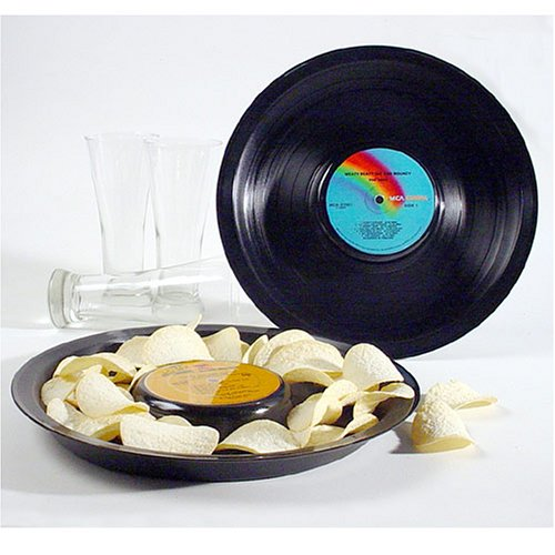 Buy Vintage Vinyl Record Snack Tray – Rock Genre