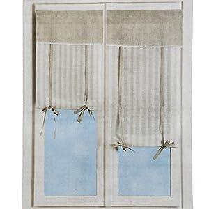 Coppia tendine regolabili per vetri finestra 60x150 cm art - Tendine da finestra cucina ...