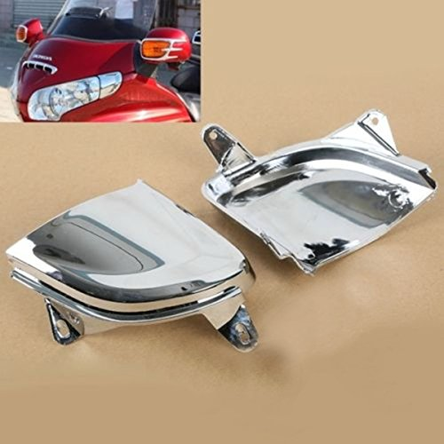 Front Chrome Headlight Cover Trims For Honda Goldwing Gold Wing GL1800 2006-2014 (Gts Dodge Ram Headlight Covers compare prices)