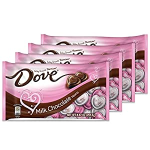 Dove Valentine's Heart Promises, Milk Chocolate, 8.87-Ounce Packages (Pack of 4)