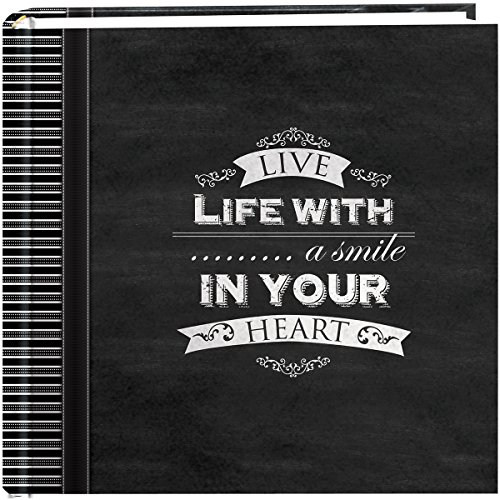 Pioneer-Photo-Albums-200-Pocket-Chalkboard-Printed-Smile-Theme-Photo-Album-for-4-by-6-Inch-Prints