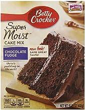 Betty Crocker Supermoist Cake Mix Chocolate Fudge 1525-Ounce Pack of 6