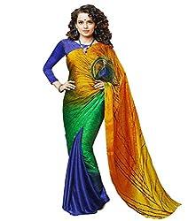 Glory Sarees Women's Bhagalpuri Art silk saree morepankhklp