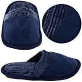 Navy Slip On Slippers for Toddlers and Boys