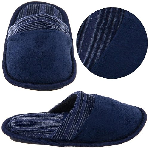 Image of Navy Slip On Slippers for Toddlers and Boys (B005Y4S12Q)